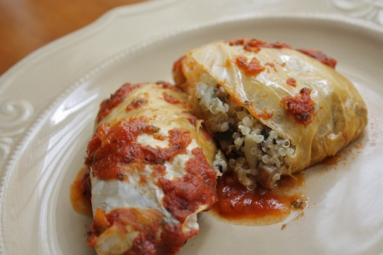 Post image for many thanks + stuffed cabbage